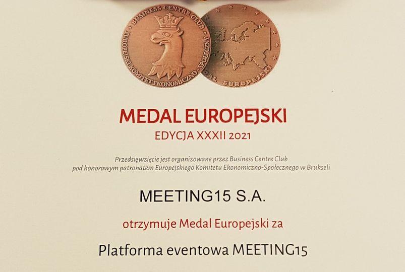 MEETING15 z Medalem Europejskim!